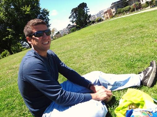Z at birthday picnic in San Francisco Park